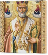 Saint Nicholas Wood Print by Stoyanka Ivanova