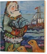 Saint Nicholas With The Harbor Seals Wood Print