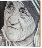 Mother Teresa Saint Of Calcutta  Wood Print