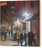Saint Patrick's Day On Marshall Street Boston Ma Wood Print
