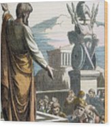 Saint Paul At Athens Wood Print