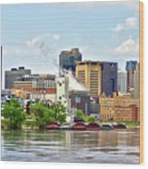 Saint Paul From The Mississippi Wood Print