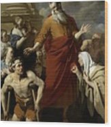 Saint Paul Healing The Cripple At Lystra Wood Print