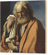 Saint Peter Penitent Wood Print