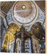 Saint Peter's Basilica II Wood Print