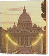 Saint Peters Cathedral In The Vatican Wood Print