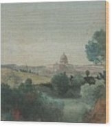 Saint Peter's Seen From The Campagna Wood Print