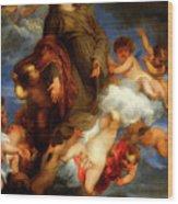 Saint Rosalie Interceding For The Plague Stricken Of Palermo     Wood Print
