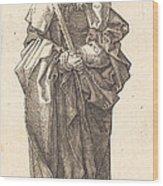 Saint Simon Wood Print