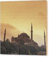 Saint Sophia Hagia Sophia At Sunset Wood Print