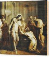 Saint Thomas Touching Christ's Wounds Wood Print
