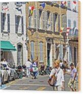 Saint Tropez Moment Wood Print