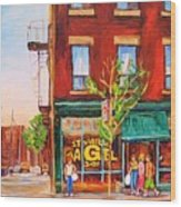 Saint Viateur Bagel Wood Print