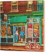 Saint Viateur Bakery Wood Print