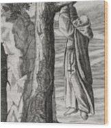 Saint Victorinus Does Penance Wood Print