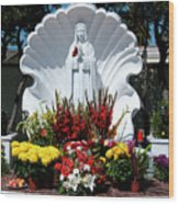 Saint Virgin Mary Statue #2 Wood Print