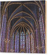 Sainte Chapelle Stained Glass Paris Wood Print