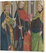 Saints Gregory Maurice And Augustine Wood Print