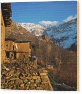 Sakran Village Wood Print
