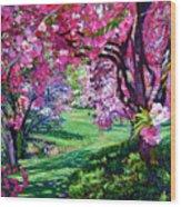 Sakura Romance Wood Print by David Lloyd Glover
