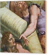 Sala Dei Giganti Wood Print by Giulio Romano