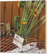 Salami For Slae With Wheat Wood Print