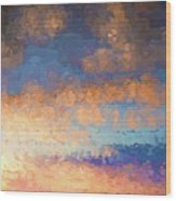 Salamonie Sunset Abstract Wood Print