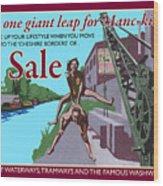 Sale Poster By Eric Jackson, Statement Artwork Wood Print