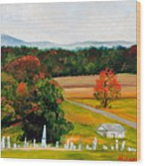 Salem Cemetery In October Wood Print