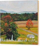 Salem Cemetery In October Wood Print