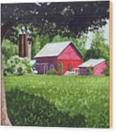 Salem County Farm, Framed Wood Print