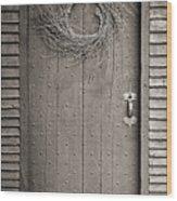 Salem Door Wood Print