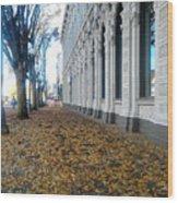 Autumn In Salem Wood Print