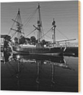 Salem Friendship Reflection Black And White Wood Print