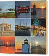 Salem Ma Nine Picture Collage Wood Print