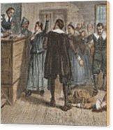 Salem Witch Trials, 1692 Wood Print by Granger