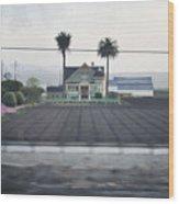 Salinas Valley Victorian Mansion Wood Print
