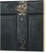 Saling Ship Door Knocker  Wood Print