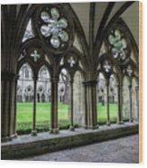 Salisbury Cathedral Cloisters Wood Print