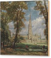 Salisbury Cathedral From The Bishop Grounds Wood Print