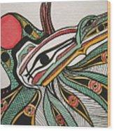 Salishan Style Raven Wood Print