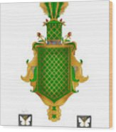 Salkeld Family Crest Wood Print