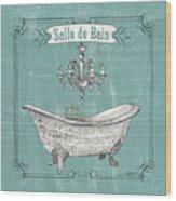 Salle De Bain Wood Print
