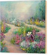 Sally's Garden Wood Print
