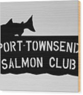 Salmon Club Wood Print