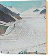 Salmon Glacier, Frozen Motion Wood Print