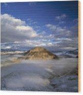 Salmon River Mountains Wood Print