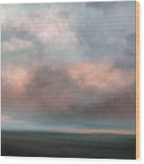 Salmon Sky Wood Print