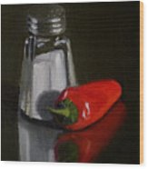 Salt And Pepper Wood Print