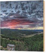 Salt Creek Sunrise Wood Print